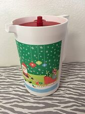 Tupperware One Gallon Classic Pitcher Christmas w/ Red Seal New