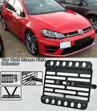 For 15-Up Volkswagen Golf MK7 Front Tow Hook License Plate Bracket NO PDC
