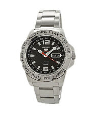 Seiko 5 Sports SRP683 Automatic World Time Stainless Steel Men's Watch SRP683K1