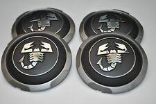 1 NUOVI ORIGINALI FIAT 500 lega ruota centro CAP coperchio nero//Chrom