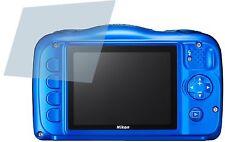 Nikon Coolpix S33 (4x) CrystalClear LCD screen guard protector de pantalla