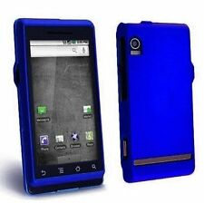 Hard Rubberized Case for Motorola Droid A855 - Blue