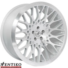 Afentiko Wheels Rims AF1 22x9 +28 22x10.5 +35 Fits BMW 5x120 Silver/ Machined