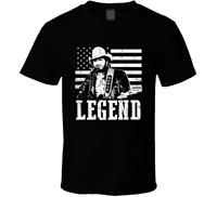New Merle Haggard American Country Music Legend Mens Black TShirt Size S-2XL