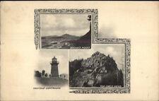 Maxfield Lighthouse Owls Head Brook's Point c1910 Postcard