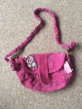 Girls Monsoon Suede Handbag - pink -  new with tags