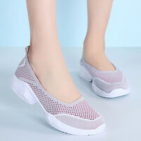 Womens Comfort Walking Shoes Casual Slip On  Breathe Athletic Sneakers Plus Size