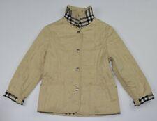 BURBERRY jacket quilt nova checks beige size 8 years youth cream