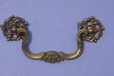 Antique Clam Shell Karges Brass Drawer Dresser Pull NOS Victorian Ornate Fancy