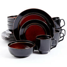 Dinnerware 16 Piece Dining Plates Bowls Cups Tableware Dishes Red New