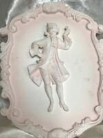 1 Small French Louis XVI Rocco Style Gentleman Dandy Plaster Wall Plaque