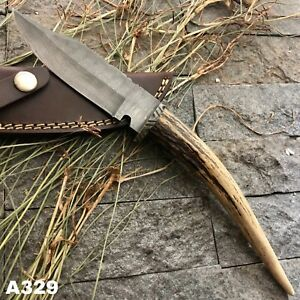 "12"" AMERICANO CUTLERY CUSTOM MADE DAMASCUS HUNTING COMBAT BOWIE KNIFE - A329"
