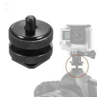 "1/4""-20 Tripod Mount Screw to Hot Shoe Adapter Camera K0H4 H2X6 DSLR A8N9 Y9A8"