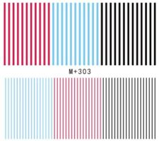 Nail Art Stickers Water Decals Transfers Straight Lines (M+303)