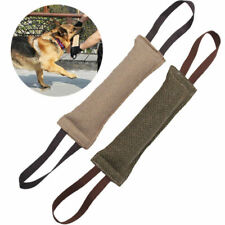 US Dog Puppy Bite Tug Training Canvas Pillow Stick Pet Interactive Chewing Toy