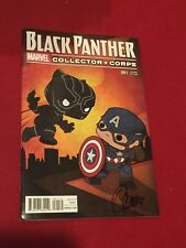 Black Panther Marvel Collector Corp Comic Book #001 Variant Edition Signed Armos
