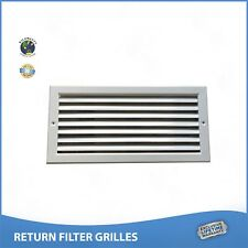 "48"" x 10"" RETURN FILTER GRILLE - Easy Air Flow. Flat Stamped Face White"