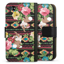 Apple iPhone 4 Tasche Hülle Flip Case - Klopfer floral vintage