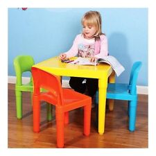 Kids Activity Table and Chairs Multicolor Craft Art Drawing Study Daycare