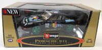 Burago 1/18 Scale Diecast 3360 Porsche 911 Carrera Racing 1993 #12 Black Model
