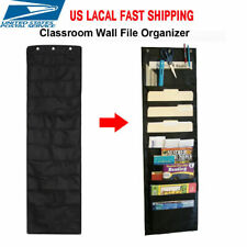 10 Pocket Hanging Files Office Letter Size Wall Mount Holder Storage Organizer