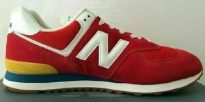 Size 5.5 New Balance 574 men's red sports gym trainers / EU 38.5 sneakers