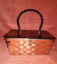 *Vintage Dorset Rex Fifth Avenue Gold Metallic And Acrylic Hand Purse 1950*