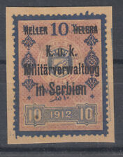 Bosnia 10 H revenue overprint used for Serbian occupation , used, on piece