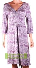 Jersey V-Neck 3/4 Sleeve Dresses Paisley