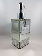 New Bella Lux Rhinestones Crystal Mirror Clear Soap Lotion Dispenser Pump Bath