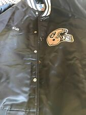 Oakland Raiders Chalk Line Satin Football Jacket Mens Monogrammed (BILL) Large
