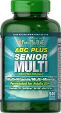 Puritans Pride ABC Plus Senior Multivitamin Multi-mineral Formula Caplets 240 C