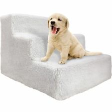 Pet Stairs Dog Portable 3 Steps Ramp Ladder Stairs with Fleece Cover