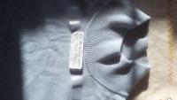 Bergdorf Goodmen Mens 100% Cashmere Mock turtleneck Ice Blue sweater XL/2XL