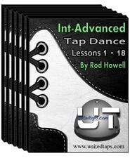 Intermediate-Advanced Tap Dance Lessons 1-18 on DVD by Rod Howell (28 Hours)