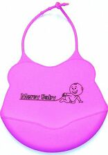 Mercy Baby Silicone Bib (PINK) - BPA free, waterproof, easy clean,crumb catcher