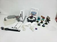 Nintendo Wii White Skylander Bundle 128 MB SD Card Cleaned & Tested 24 pc.
