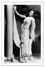 LORETTA YOUNG  AUTOGRAPH SIGNED PHOTO PRINT POSTER BEDTIME STORY