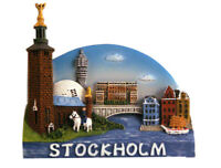 Stockholm Schweden Poly Magnet Rathaus Souvenir Sweden Neu