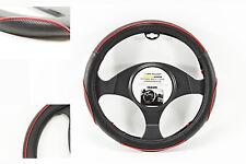 ✔✔✔ LENKRADBEZUG 37-39 cm Dunlop Lenkradschoner LENKRADÜBERZUG SCHWARZ-ROT Auto