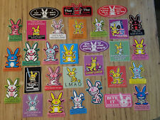 Jim Benton 30 Different Funny Happy Bunny Stickers *MIX MATCH YOURS* Sick Humor