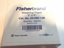 """Fisherbrand Fisher Scientific Weighing Weigh Paper 500/pk 4"""" x 4""""  09-898-12B"""