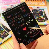 Spule Skizze Notebook Schwarz Seite Magie Zeichnung Malen Buch für Kinder Beste
