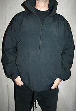 VINTAGE 80 s homme L NOIR Pull en coton doublée polaire sweat-shirt radio promo