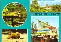 AK, Eberswalde - Finow, vier Abb.- Im Tierpark, 1983