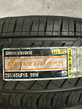 2 New 255 45 18 Bridgestone Drive Guard Run Flat Tires