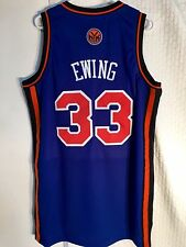 Adidas Swingman NBA Jersey New York Knicks Patrick Ewing Blue sz L