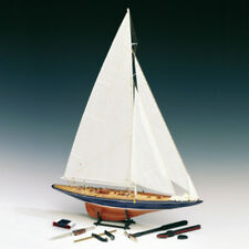 "Detailed Wooden Model Ship Kit by Amati: the ""Endeavour J Class"" Tools Included!"
