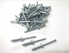 Steel Shaft Rivets. 4.8mm x 15mm. Pack of 50. Blind. Open. *Top Quality!