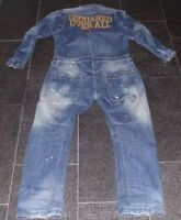 DSQUARED2 S/S 2008 RACING OVERALL DUNGAREE JUMPSUIT 46 JEANS ANZUG SUIT OVER ALL